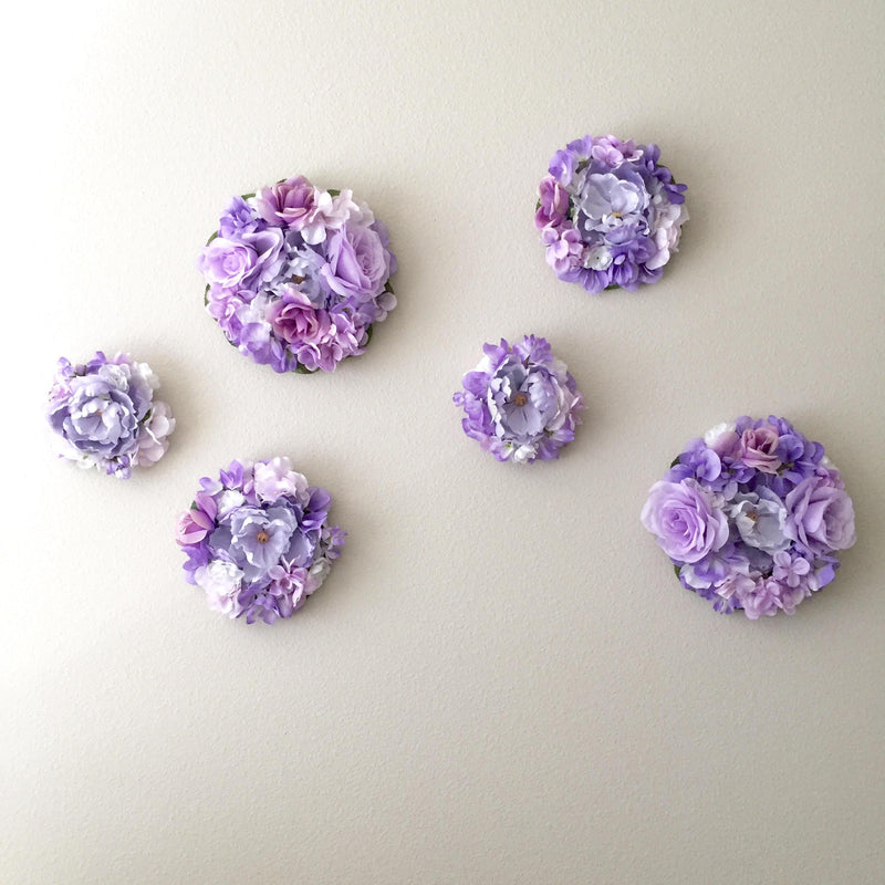 lavender nursery decor flower wall decor floral nursery decor floral girl decor flower bubble