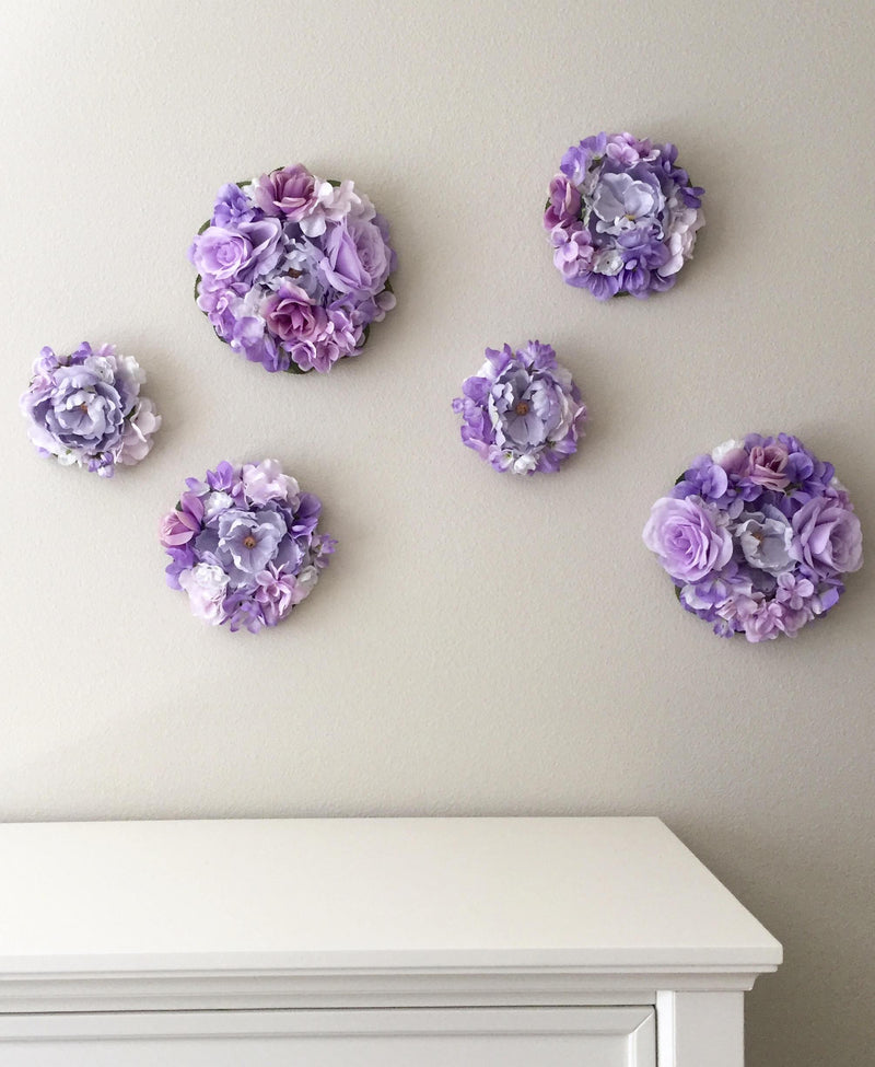 flower wall decor floral nursery decor floral girl decor flower bubble