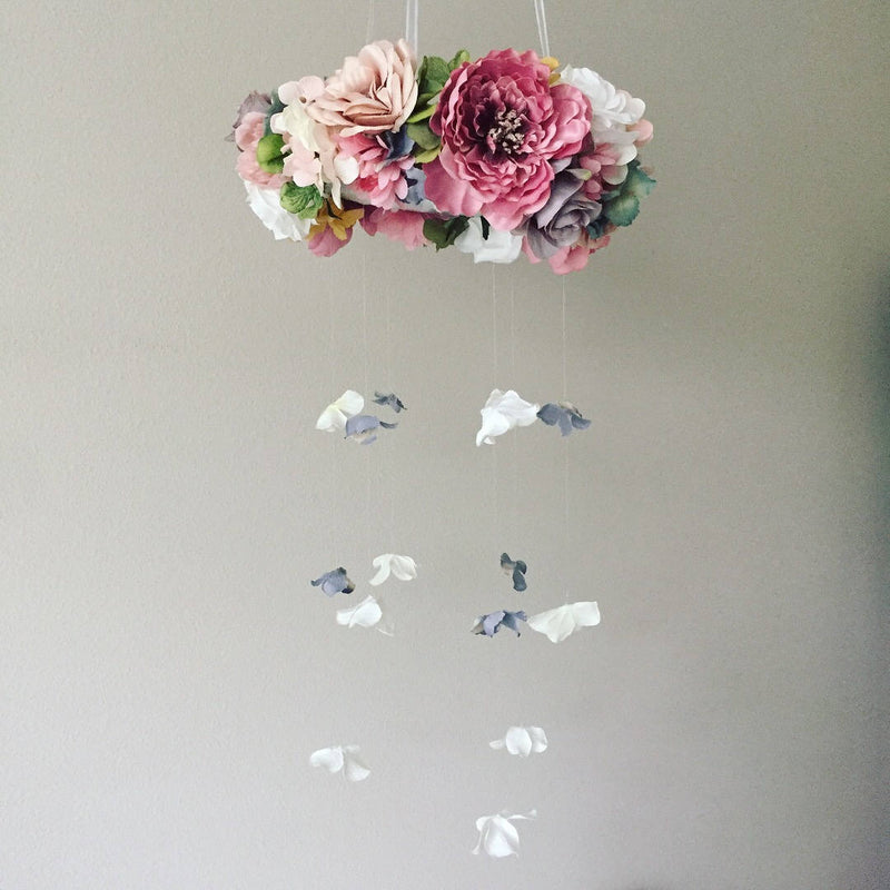 handmade flower mobile