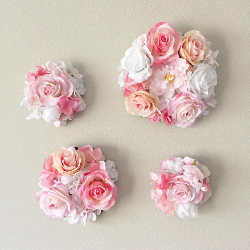 blush flower wall decor floral nursery decor floral girl decor flower bubble