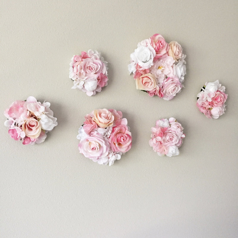 flower wall art flower bubble art