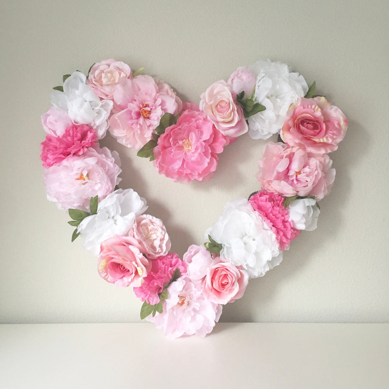 handmade flower heart for nursery