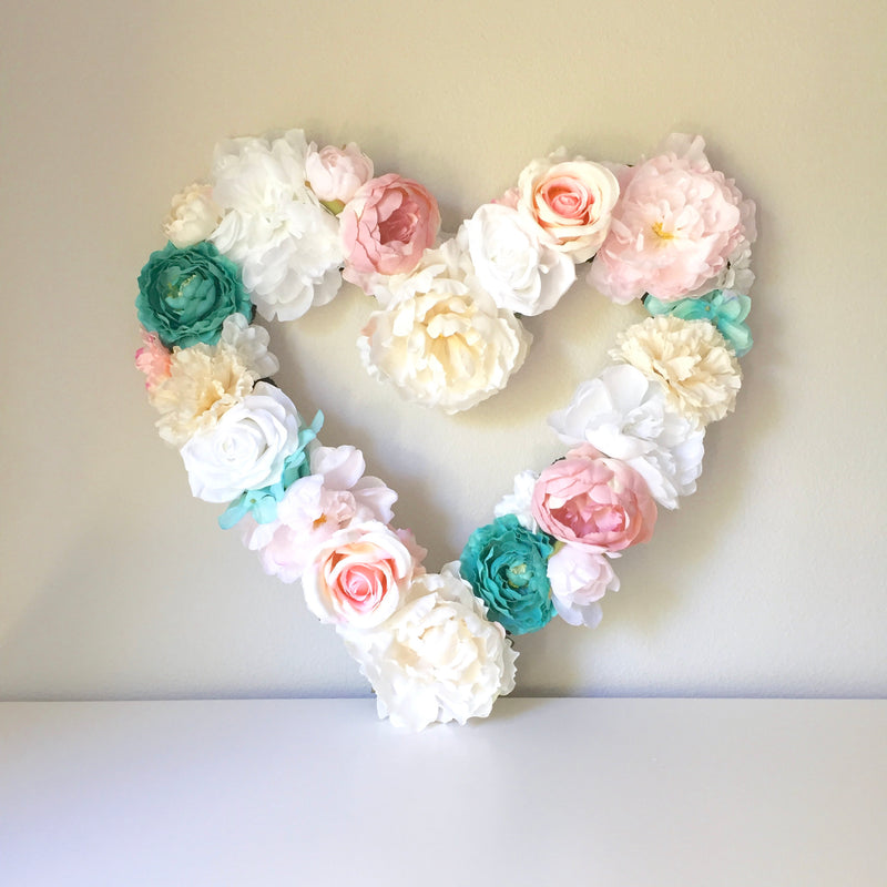 heart theme party decor floral heart floral nursery floral room decor