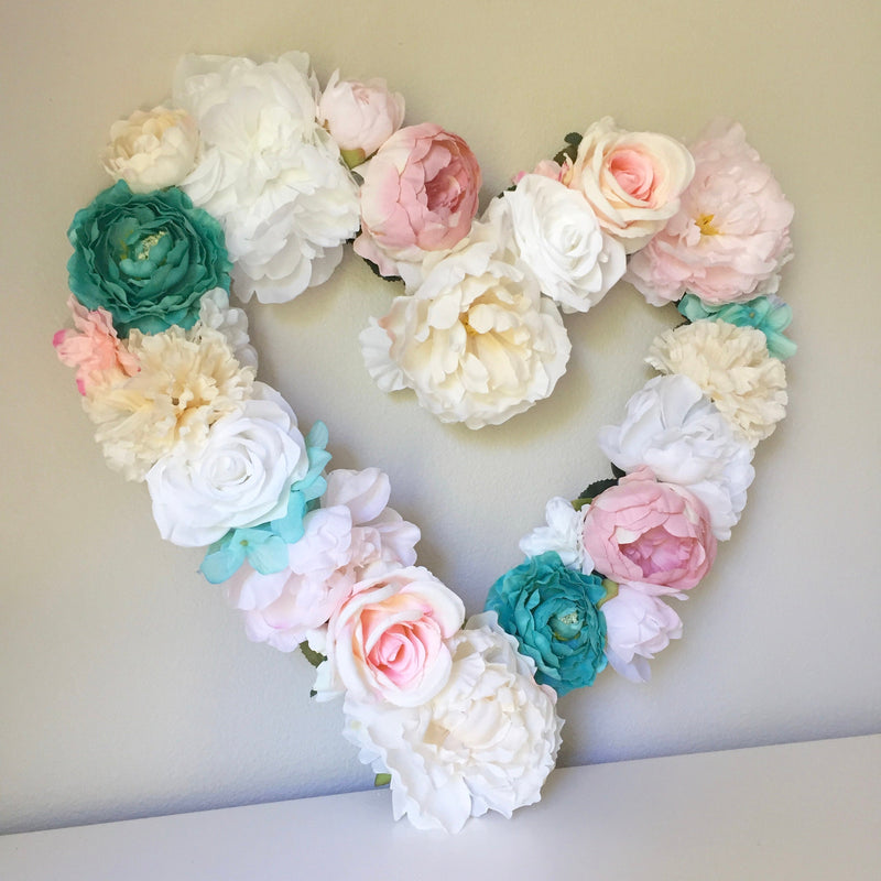 floral wall decor bridal shower