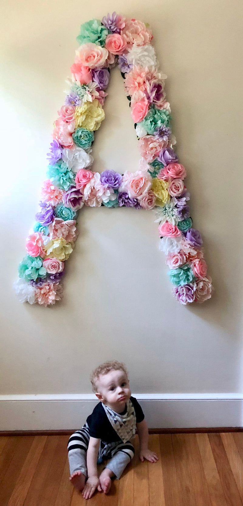 extra tall floral letter