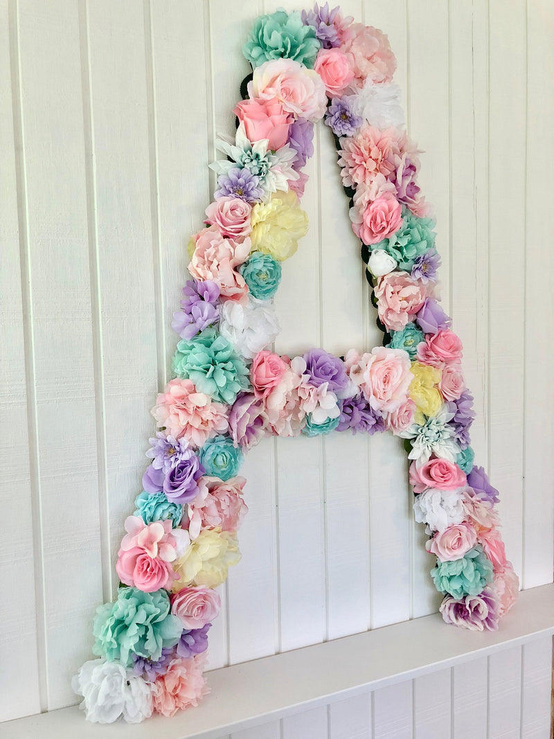 extra large floral covered letter
