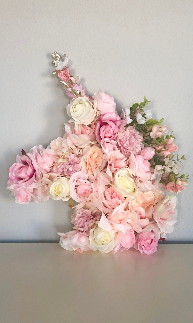 unicorn flower wall decor