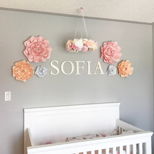 girl nursery floral decor