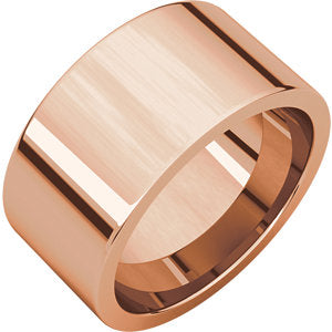 10mm Flat Comfort Fit Wedding Band - I Heart Moissanites