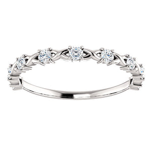 Moissanite Twist Wedding Band - I Heart Moissanites