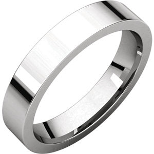 4mm Flat Comfort Fit Wedding Band - I Heart Moissanites