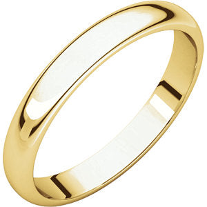 4mm Half Round Wedding Band - I Heart Moissanites
