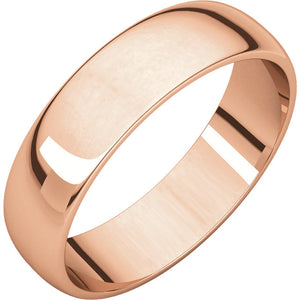 5mm Half Round Wedding Band - I Heart Moissanites