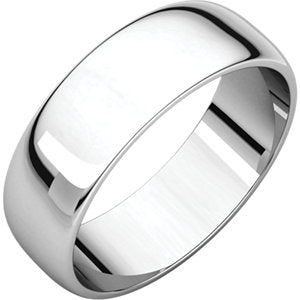 6mm Half Round Wedding Band - I Heart Moissanites
