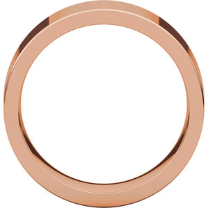 7mm Flat Comfort Fit Wedding Band - I Heart Moissanites