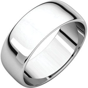 7mm Half Round Wedding Band - I Heart Moissanites
