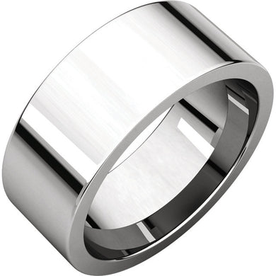 8mm Flat Comfort Fit Wedding Band - I Heart Moissanites