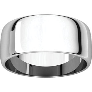 8mm Half Round Wedding Band - I Heart Moissanites