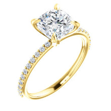 2ct Cushion Crushed Engagement Ring
