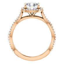 Cushion Twist Halo Style Engagement Ring - I Heart Moissanites