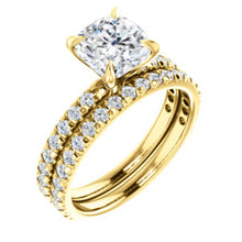 Cushion Claw Set Style Engagement Ring - I Heart Moissanites