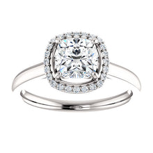 2ct Cushion Crushed Ice Halo Engagement Ring