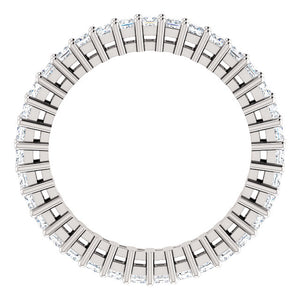 Princess Moissanite Eternity Band