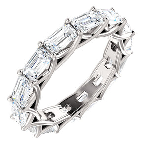 3.00ct Emerald Moissanite Eternity Band