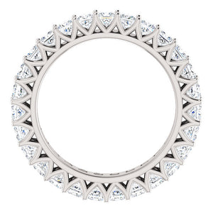 2.85ct Princess Moissanite Eternity Band