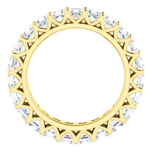 4.60ct Asscher Moissanite Eternity Band - I Heart Moissanites