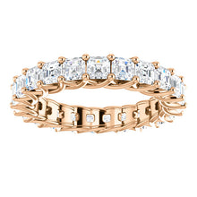 5.75ct Asscher Moissanite Eternity Band - I Heart Moissanites