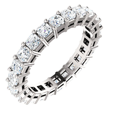 3.15ct Asscher Moissanite Eternity Band - I Heart Moissanites