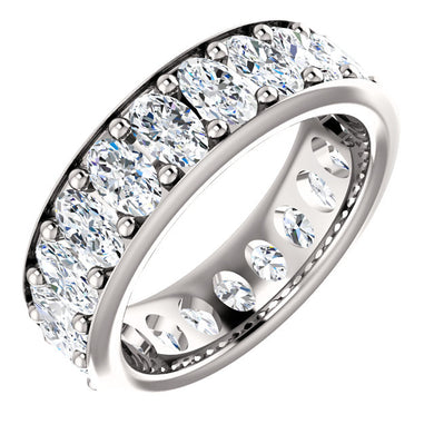 6.30ct Oval Channel Set Moissanite Eternity Band - I Heart Moissanites