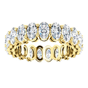 6.30ct Oval Moissanite Eternity Band - I Heart Moissanites