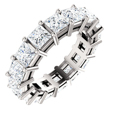 4.80ct Princess Moissanite Eternity Band - I Heart Moissanites
