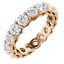 4.25ct Round Brilliant Moissanite Eternity Band - I Heart Moissanites