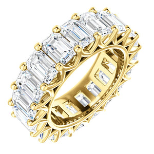 9.50ct Emerald Moissanite Eternity Band - I Heart Moissanites
