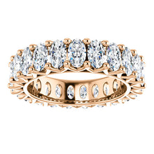 6.90ct Oval Moissanite Eternity Band - I Heart Moissanites