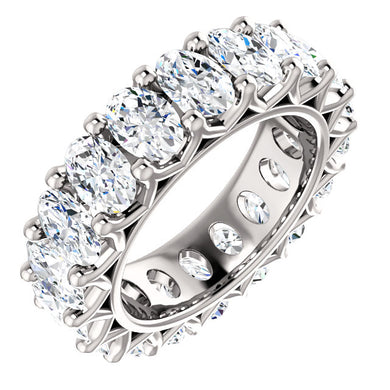 9.00ct Oval Moissanite Eternity Band - I Heart Moissanites