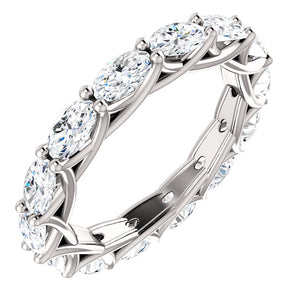 4.20ct Oval Moissanite Eternity Band - I Heart Moissanites