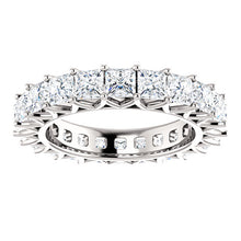 6.60ct Princess Moissanite Eternity Band - I Heart Moissanites