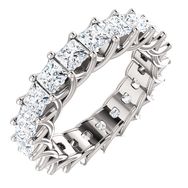6.30ct Princess Moissanite Eternity Band - I Heart Moissanites