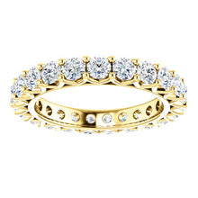 2.30ct Round Brilliant Moissanite Eternity Band - I Heart Moissanites