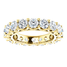 5.40ct Round Brilliant Moissanite Eternity Band - I Heart Moissanites