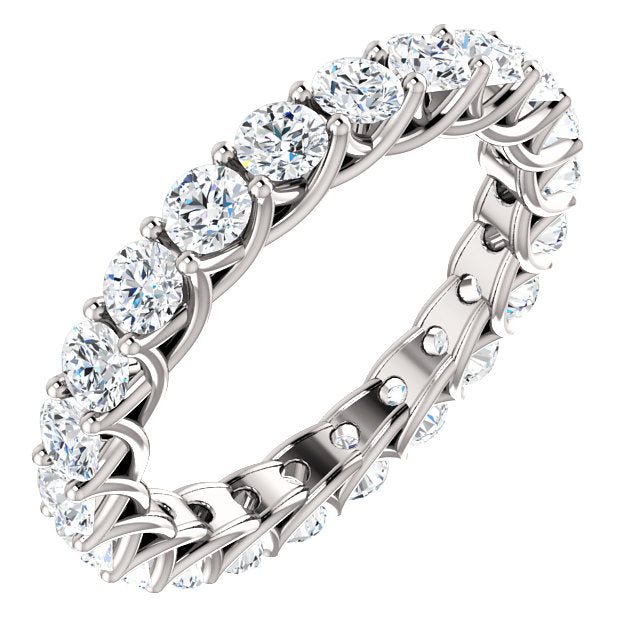 2.20ct Round Brilliant Moissanite Eternity Band - I Heart Moissanites