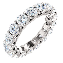 5.10ct Round Brilliant Moissanite Eternity Band - I Heart Moissanites