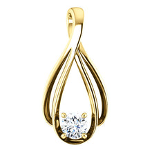 Round Claw Set Drop Style Pendant - I Heart Moissanites