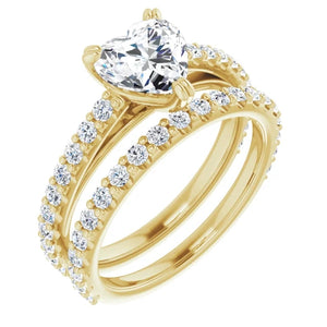 Heart Claw Set Style Engagement Ring