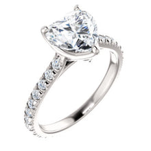 Heart Claw Set Eternity Style Engagement Ring - I Heart Moissanites