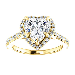 Heart Halo Style Engagement Ring - I Heart Moissanites